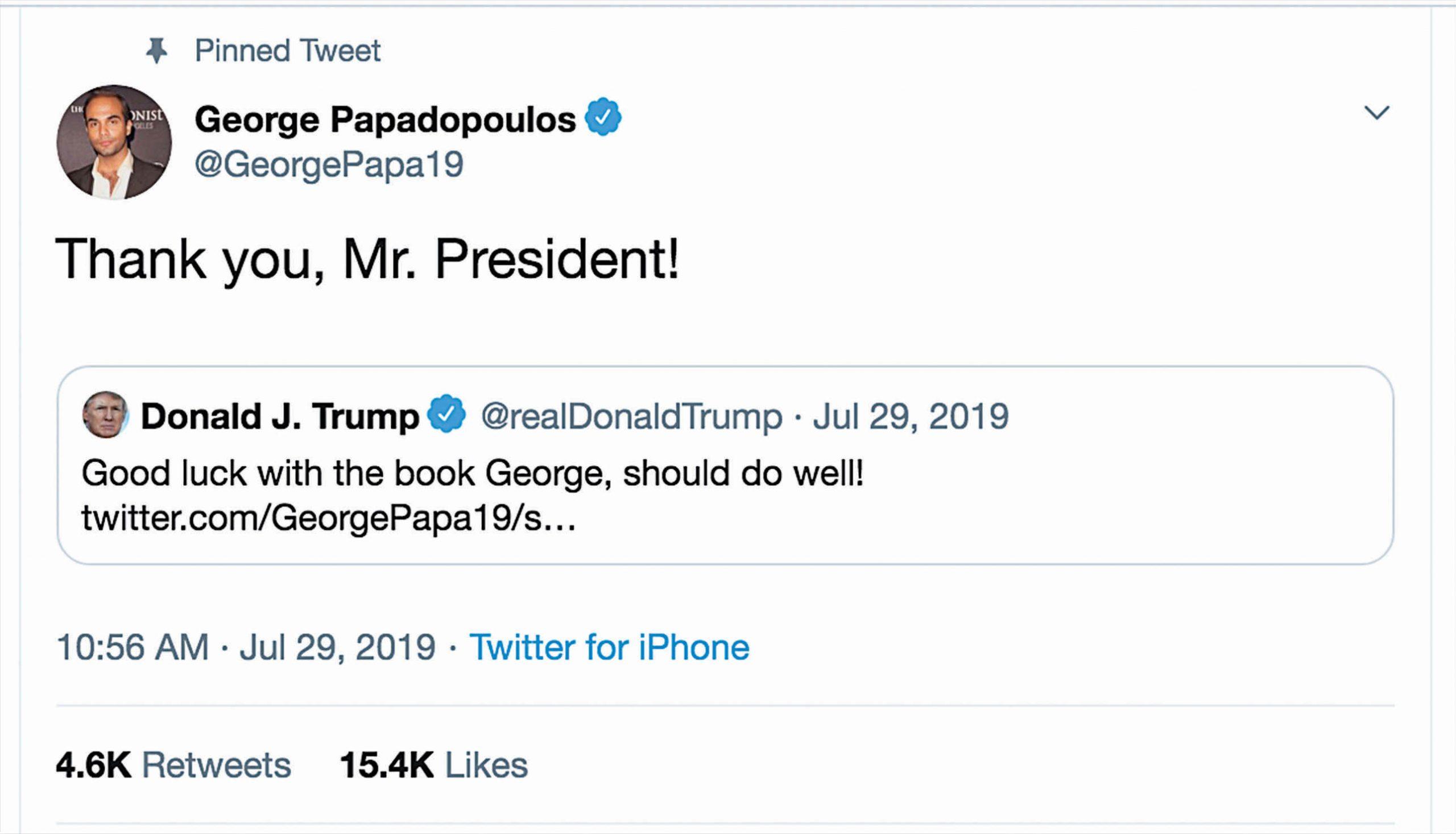 George Papadopoulos jure que sa candidature au Congrès n'est pas une blague 3