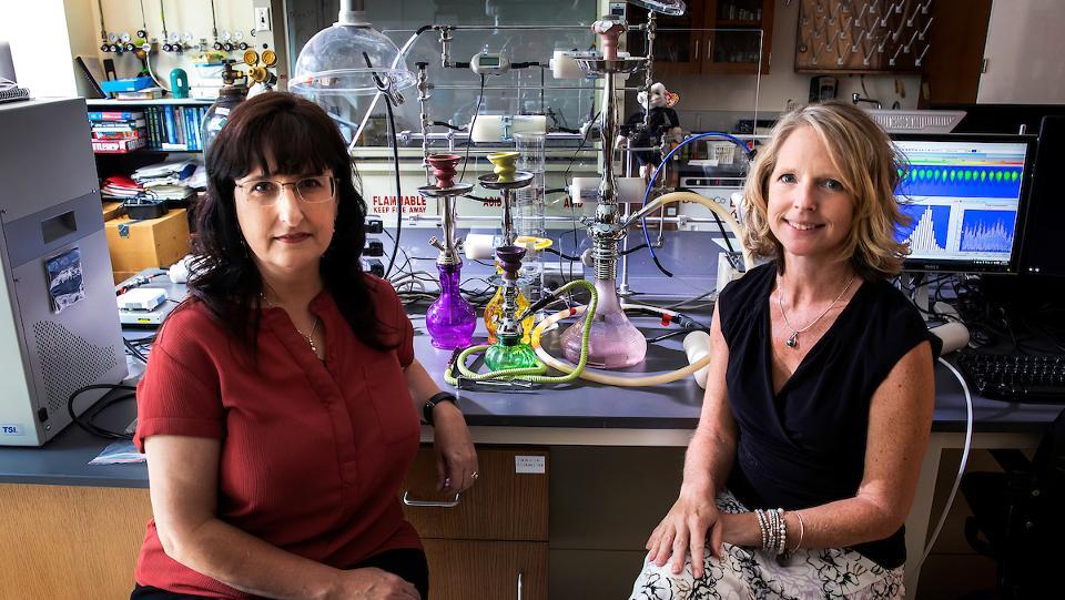 Karen Bernd (à gauche) et Cindy Hauser, professeurs de biologie et de chimie au Davidson College
