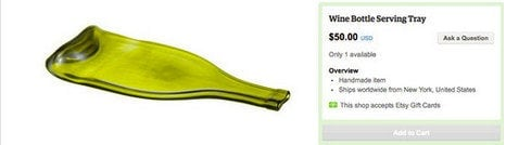 Plateau à bouteilles de vin