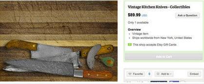 Couteau de cuisine vintage