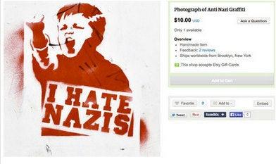 Photo Graffiti Anti Nazi