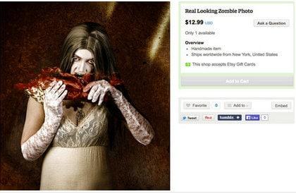 Photo réaliste de zombie