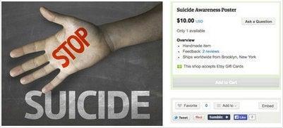 Affiche de sensibilisation au suicide