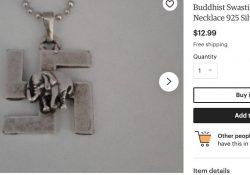 Exemple : collier bouddhiste avec croix gammée
